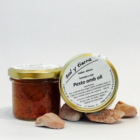 Pesto amb oli - Knoblauch-Tomaten-Pesto