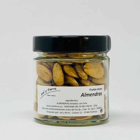 Almonds, toasted on bonfire