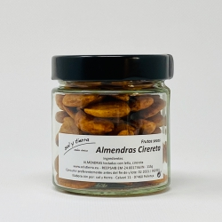 Almonds with cirereta, toasted on bonfire