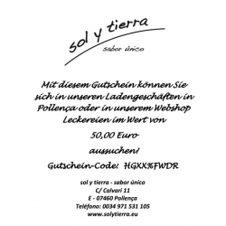 Gift voucher 50,- Euro