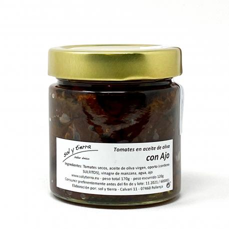 Tomates secos en aceite de oliva y ajo
