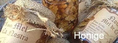Mallorquinische Honige (auch mit Nüssen)